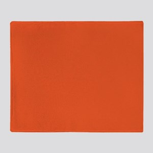 Persimmon Orange Solid Color Throw Blanket