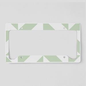Sage Green Geometric Cube Pat License Plate Holder