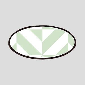 Sage Green Geometric Cube Pattern Patch