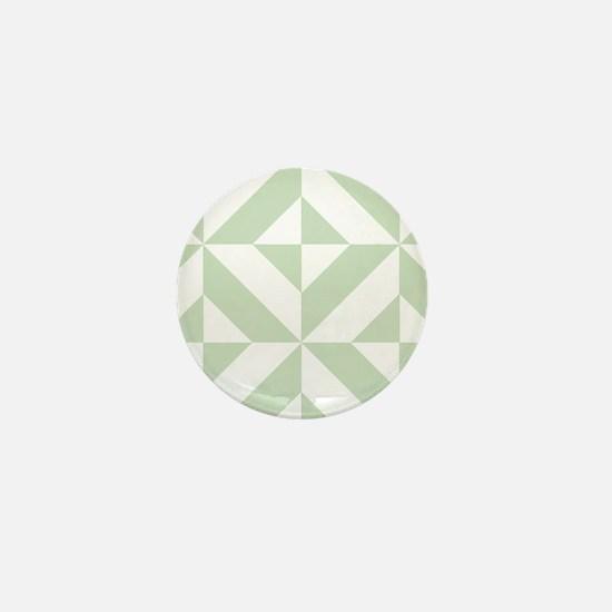 Sage Green Geometric Cube Pattern Mini Button