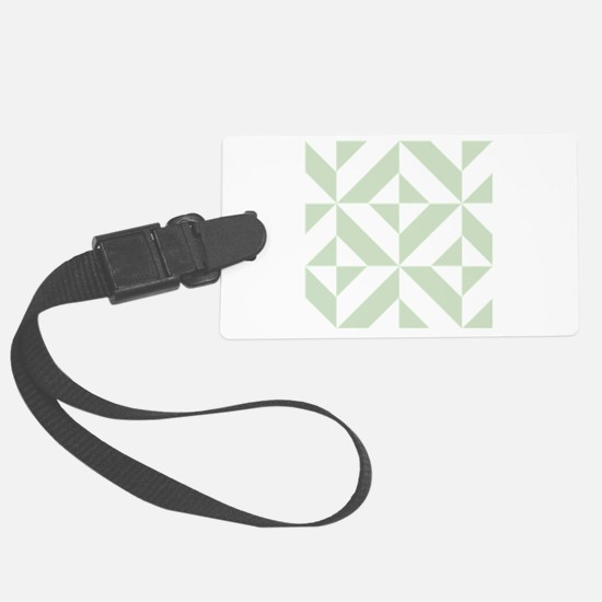 Sage Green Geometric Cube Patter Luggage Tag