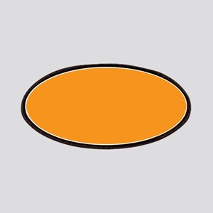 Tangerine Orange Solid Color Patches