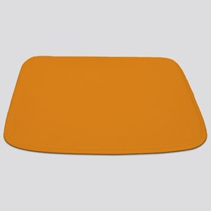 Tangerine Orange Solid Color Bathmat
