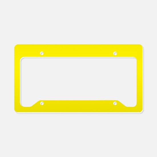 aureolin yellow solid color license plate holder - Yellow Picture Frames