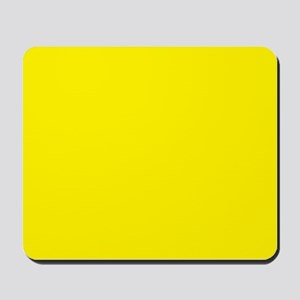 Aureolin Yellow Solid Color Mousepad