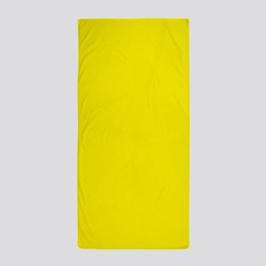 Aureolin Yellow Solid Color Beach Towel