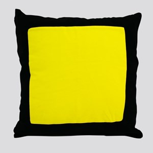 Aureolin Yellow Solid Color Throw Pillow