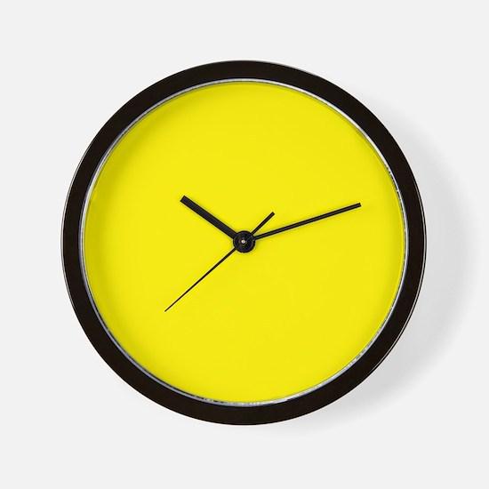 Aureolin Yellow Solid Color Wall Clock