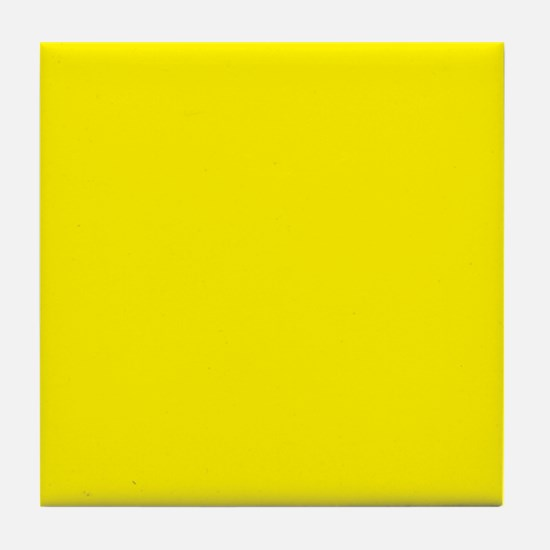 Aureolin Yellow Solid Color Tile Coaster