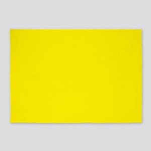 Aureolin Yellow Solid Color 5'x7'Area Rug