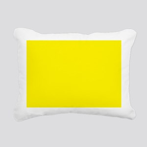 Aureolin Yellow Solid Color Rectangular Canvas Pil