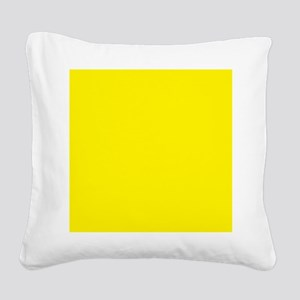Aureolin Yellow Solid Color Square Canvas Pillow