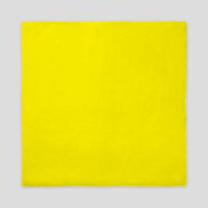 Aureolin Yellow Solid Color Queen Duvet