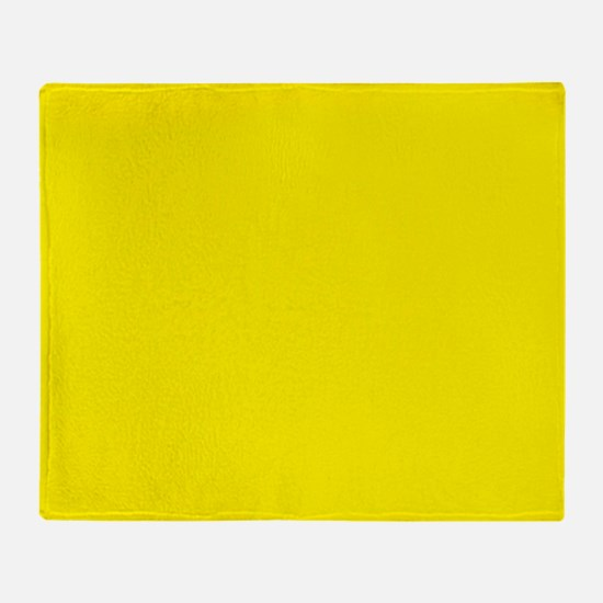 Aureolin Yellow Solid Color Throw Blanket