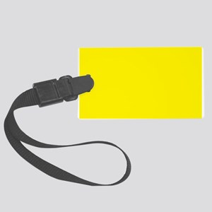 Aureolin Yellow Solid Color Luggage Tag