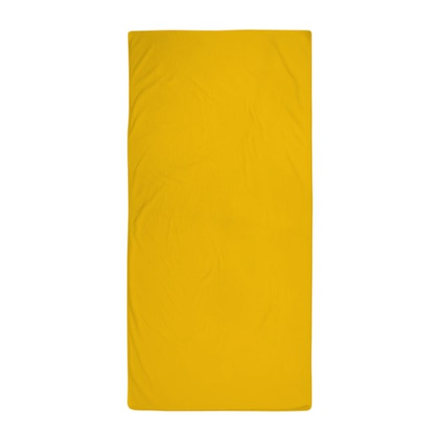 Gold Yellow Solid Color Beach Towel By Beautifulbed