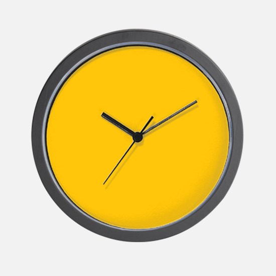 Gold Yellow Solid Color Wall Clock
