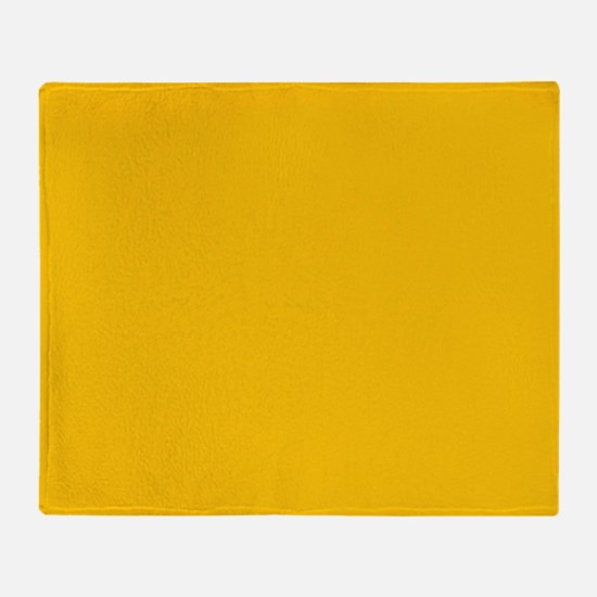 Gold Yellow Solid Color Throw Blanket