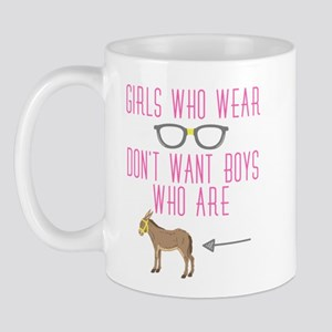 Funny Girl Nerd Humor Glasses Mugs
