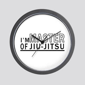 I Am Master Of Jiu-Jitsu Wall Clock