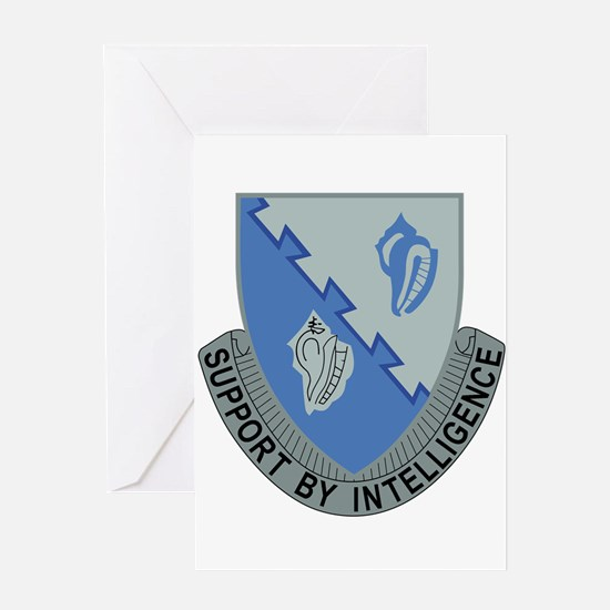 14th Army Military Intelligence Bat Greeting Cards