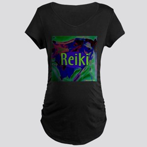 Reiki for All Maternity Dark T-Shirt