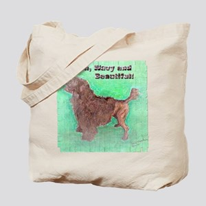 Portuguese Water Dog Brown Wavy Tote Bag