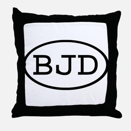 BJD Oval Throw Pillow