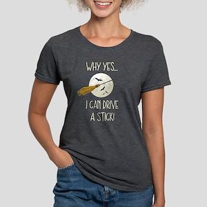 Drive A Stick Broom Womens Tri-blend T-Shirt