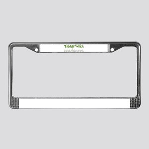 Hedge Witch License Plate Frame