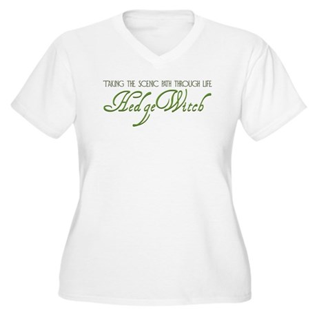 Hedge Witch Women's Plus Size V-Neck T-Shirt