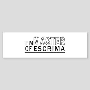 I Am Master Of Escrima Sticker (Bumper)