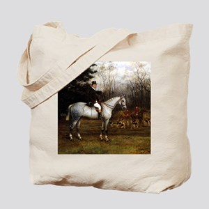 Gentleman on Grey Hunter Tote Bag