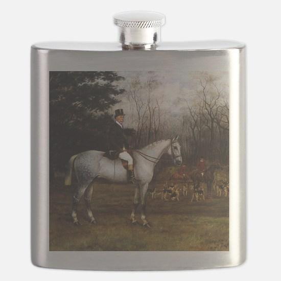 Gentleman on Grey Hunter Flask