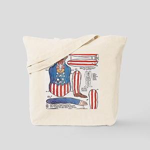 Uncle Sam Paper Doll Tote Bag