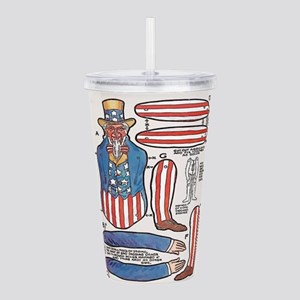 Uncle Sam Paper Doll Acrylic Double-wall Tumbler