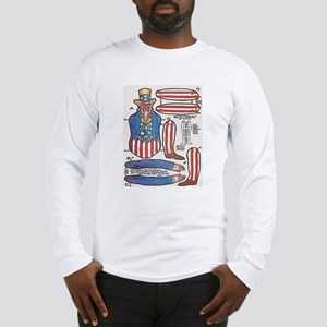Uncle Sam Paper Doll Long Sleeve T-Shirt
