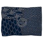 Sashiko-style Embroidery Pillow Sham