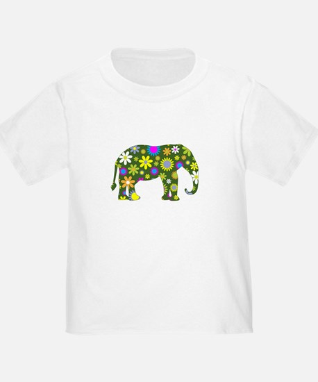 FUNKY RETRO ELEPHANT T-Shirt