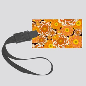 Fall Fantasy Flowers Large Luggage Tag