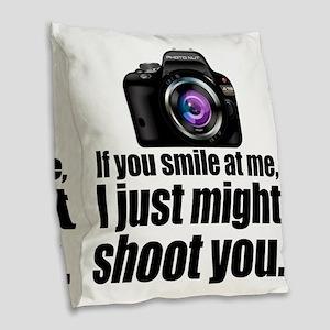PHOTOs Burlap Throw Pillow