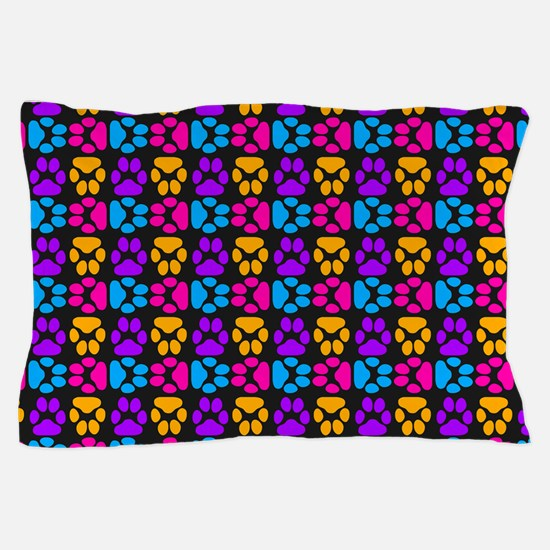 Whimsical Cute Paws Pattern Pillow Case