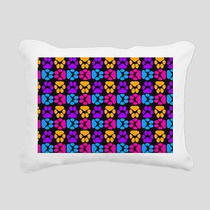 Whimsical Cute Paws Patt Rectangular Canvas Pillow