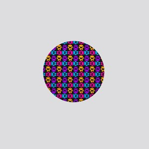 Whimsical Cute Paws Pattern Mini Button