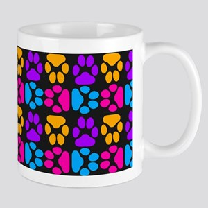 Whimsical Cute Paws Pattern Mug