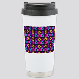 Whimsical Cute Paws Pat Stainless Steel Travel Mug