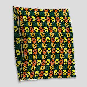Whimsical Cute Paws Pattern Burlap Throw Pillow