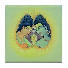 Shiva & Shakti Tile