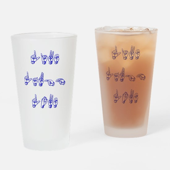 Live Laugh Love -vertical Drinking Glass