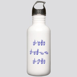 Live Laugh Love -vertical Water Bottle